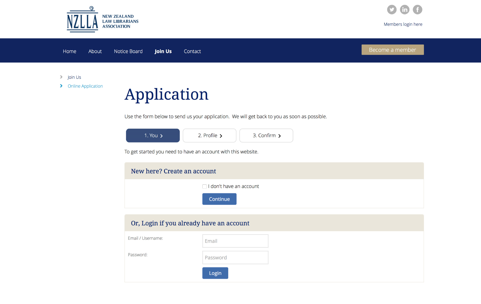 NZLLA Online Application